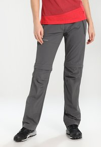 Vaude - WOMEN'S FARLEY STRETCH ZO T-ZIP PANTS 2-IN-1 - Trousers - iron - 0