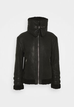 MIO - Leather jacket - black