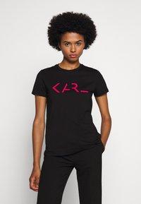 KARL LAGERFELD - LEGEND LOGO - T-Shirt print - black - 0