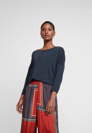 KALINE OVERSIZE FIT - Long sleeved top - washed black