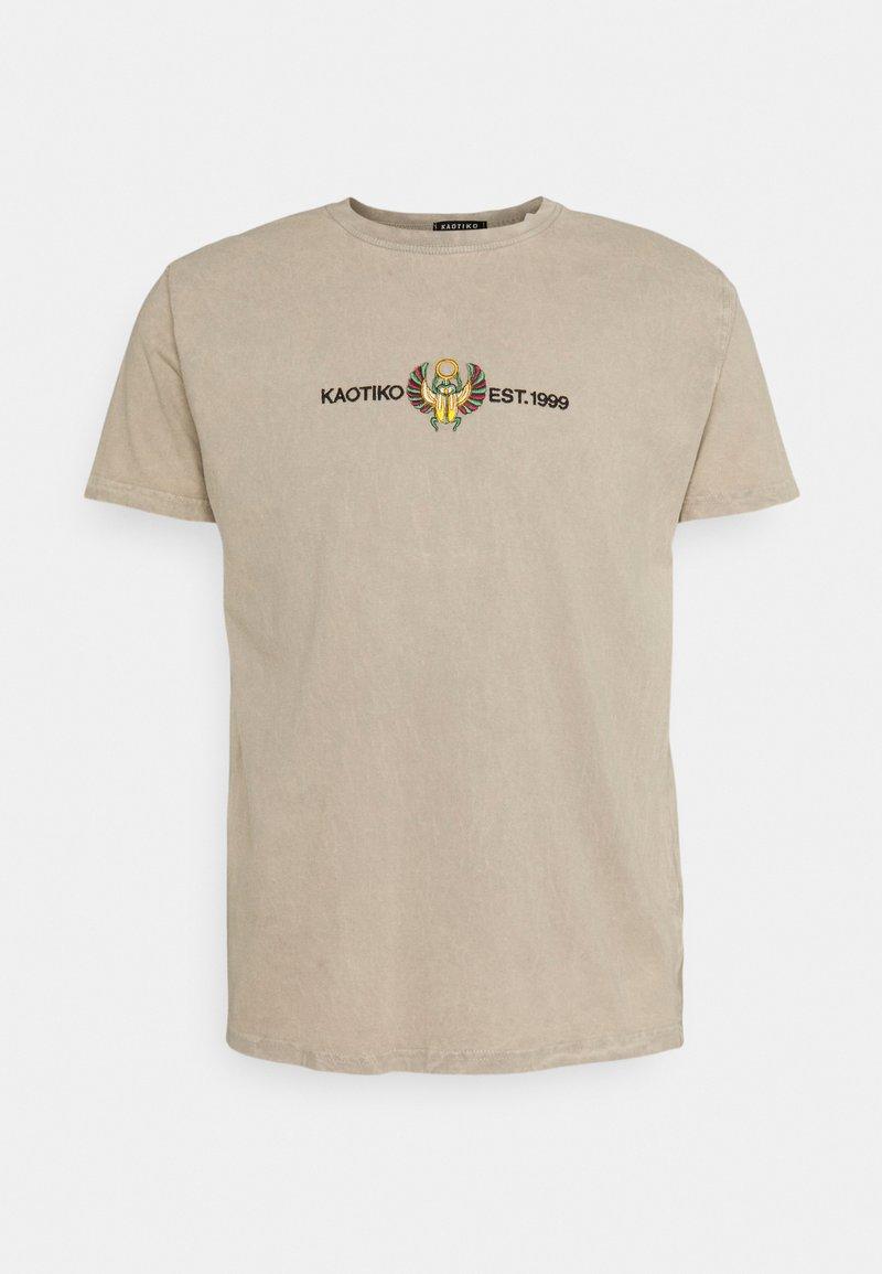 Kaotiko - BEETLE - T-shirt med print - sand