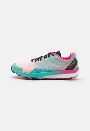 TERREX SPEED ULTRA - Trail running shoes - footwear white/clear mint/screaming pink