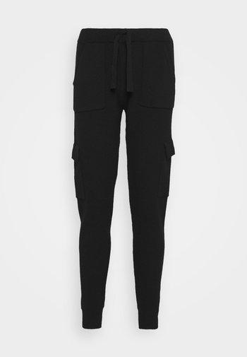 PEACH - Cargo trousers - black