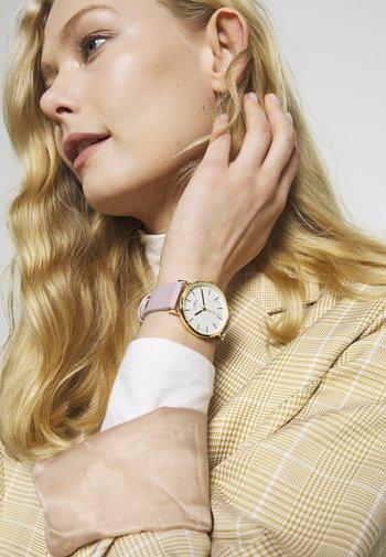 LADIES STRAP WATCH TEXTURED DIAL - Watch - rose