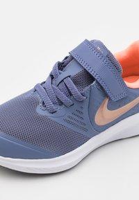 Nike Performance - STAR RUNNER 2 UNISEX - Neutral running shoes - world indigo/metallic red bronze/atomic pink - 5