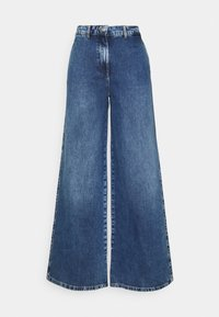 SLFJENNI - Jeans straight leg - dark blue denim