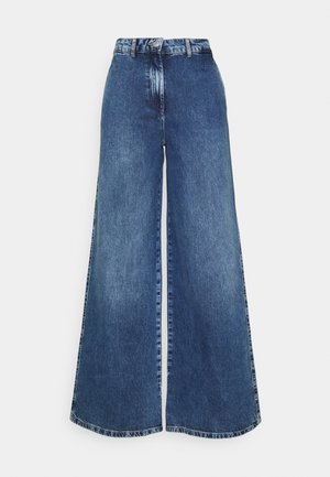 SLFJENNI - Straight leg jeans - dark blue denim