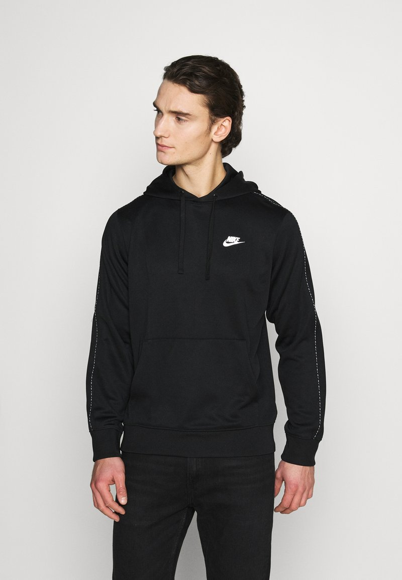 Nike Sportswear - REPEAT HOODIE - Long sleeved top - black/reflective silver