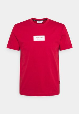 CHEST BOX LOGO - T-shirt imprimé - red