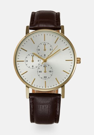 Watch - dark brown/gold-coloured