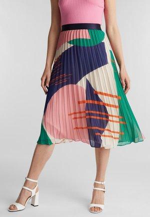 MIT PRINT - A-line skirt - off white