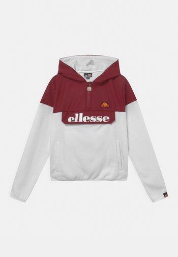 GILLIN OH - Fleece jumper - white/burgundy