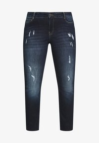 JUNAROSE - by VERO MODA - JRFIVEADIA DB ANKLE - Jeans Skinny Fit - dark blue denim - 4