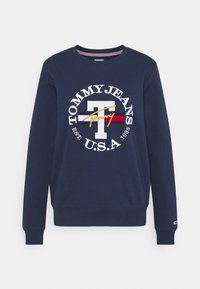Tommy Jeans - REGULAR TWISTED LOGO CREW - Sweatshirt - twilight navy - 4