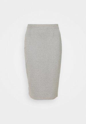 MIDI SKIRT - Pouzdrová sukně - grey marl