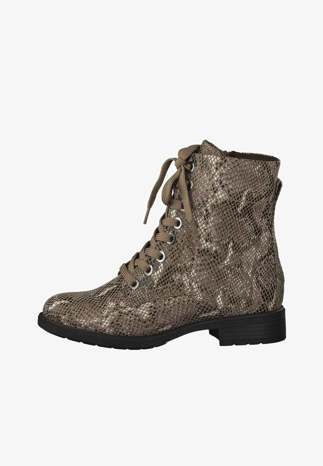 STIEFELETTE - Veterboots - choco snake