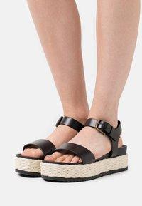 Marc O'Polo - ILARIA  - Platform sandals - black - 0