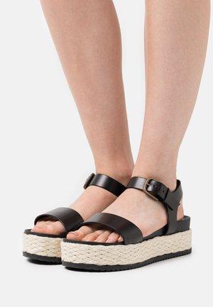 ILARIA  - Platform sandals - black