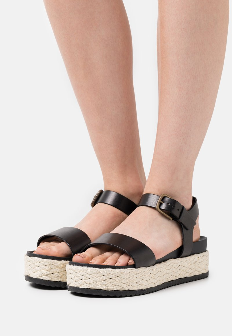 Marc O'Polo - ILARIA  - Platform sandals - black