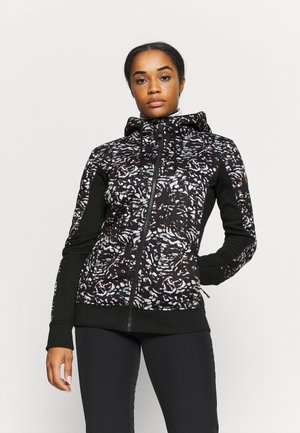 FROST PRINTED - Fleece jacket - true black izi