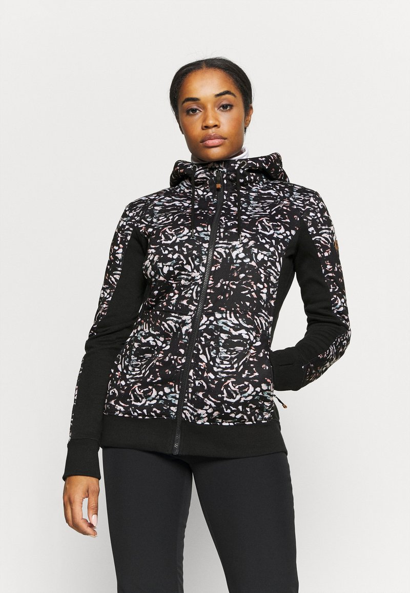 Roxy - FROST PRINTED - Fleece jacket - true black izi