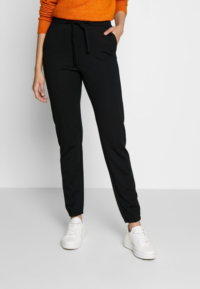 ONLY Tall - ONLPOPTRASH BELT PANT - Trousers - black