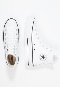 Converse - CHUCK TAYLOR ALL STAR LIFT CLEAN - High-top trainers - white/black - 3