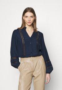 Vila - VIMOCAMIL  - Button-down blouse - navy - 0