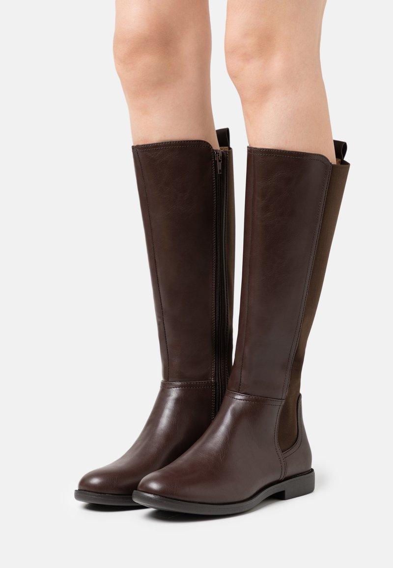Anna Field Wide Fit - Klassiska stövlar - dark brown