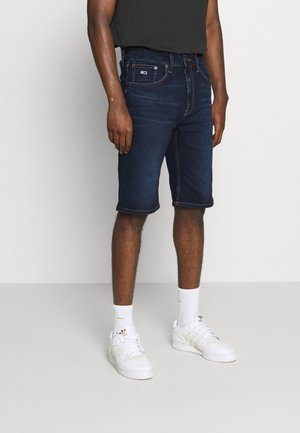 REY RELAXED - Szorty jeansowe - dark-blue denim