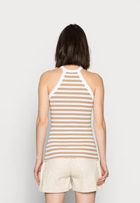 Selected Femme - SLFANALIPA TOP STRIPE - Top - bright white/ kelp - 2