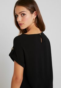 Dorothy Perkins Petite - BUTTON POCKET - Blouse - black - 5