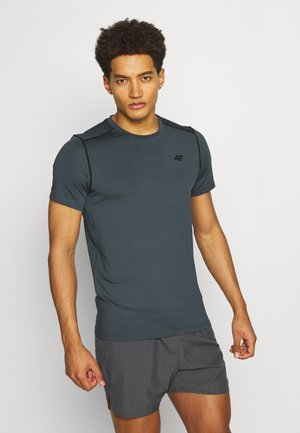 Men's training T-shirt - Print T-shirt - khaki