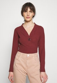 Sisley - Long sleeved top - bordeaux - 0