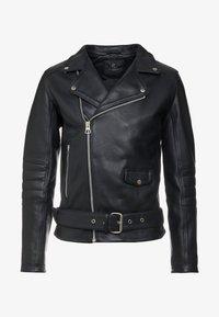 Bruuns Bazaar - FELIX JACKET - Leather jacket - black - 6