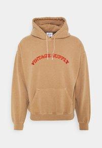 Vintage Supply - HOODIE WITH TONAL UNISEX - Sweatshirt - overdyed tan - 0
