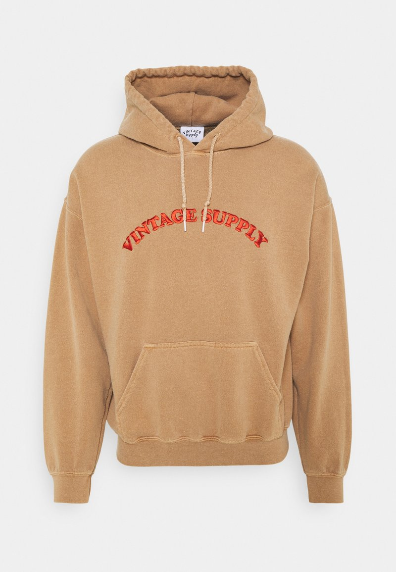 Vintage Supply - HOODIE WITH TONAL UNISEX - Sweatshirt - overdyed tan