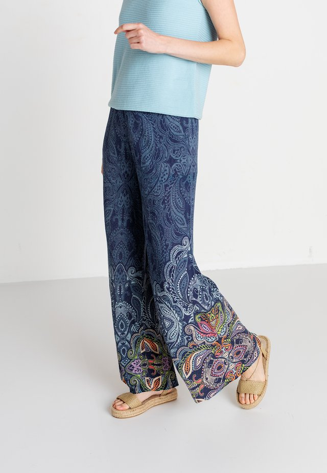 BOHO MOTIF - Pantalon classique - marine