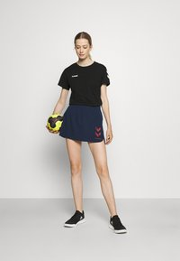 Hummel - PRO GAME SKORT WOMAN - Sports skirt - black iris - 1