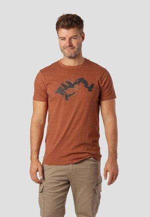 T-shirt print - spicy brown mix
