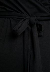 Kaffe Curve - PINA WRAP DRESS - Jersey dress - black deep - 7