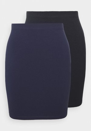 2 PACK - Miniskjørt - dark blue/black