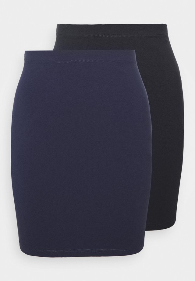2 PACK - Mini skirts  - dark blue/black
