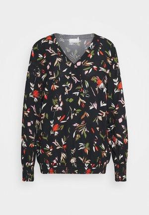 KADALANA AMBER BLOUSE - Long sleeved top - black/multicolor