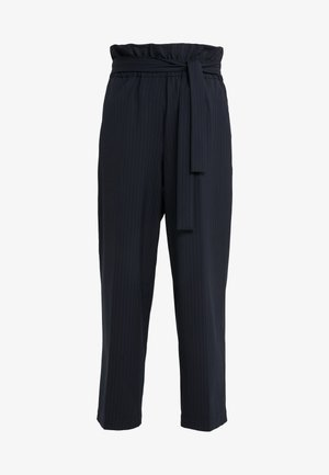 CROPPED PAPERBAG PANT - Trousers - navy/indigo