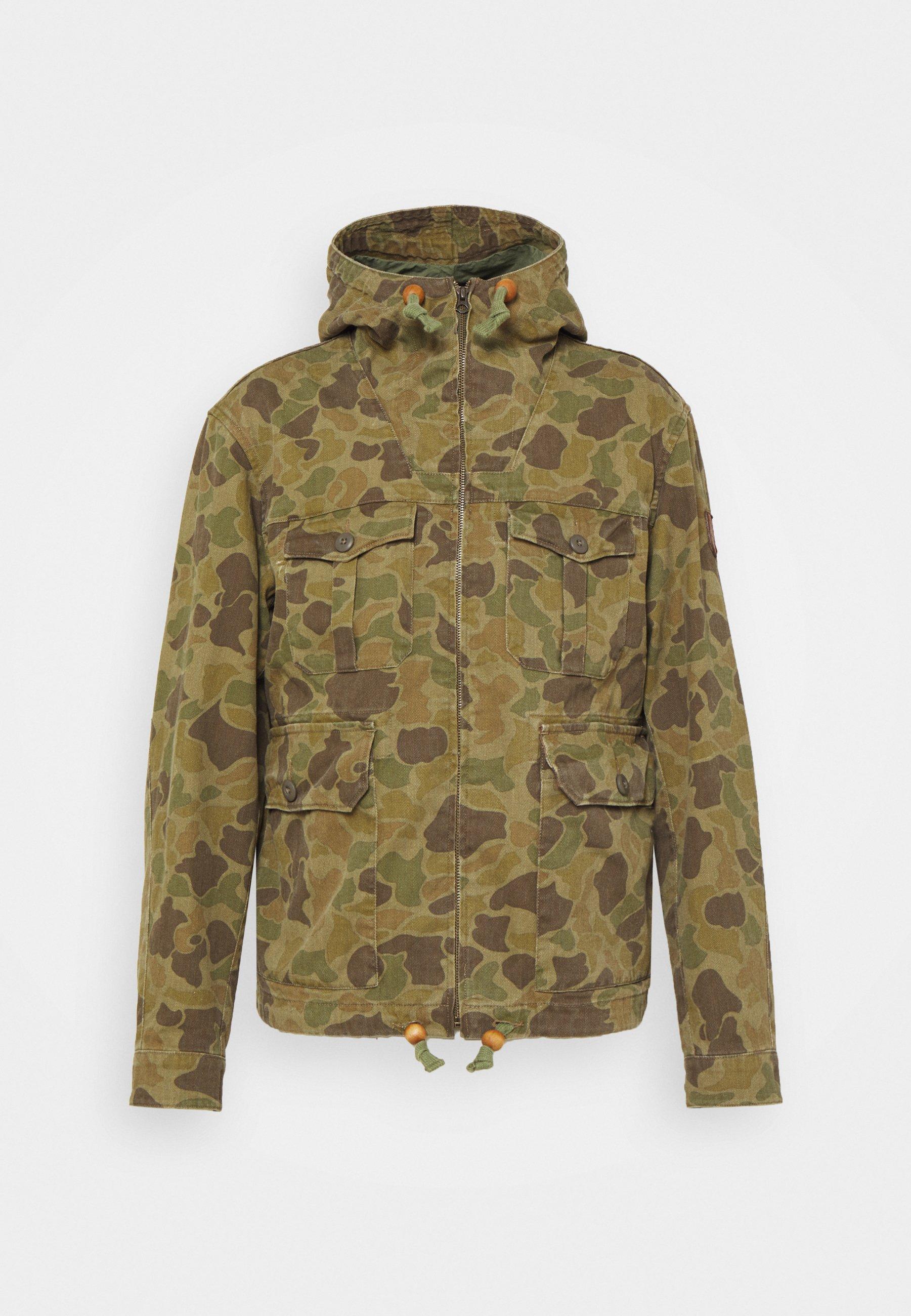 Men CAMO TWILL HOODED JACKET - Summer jacket