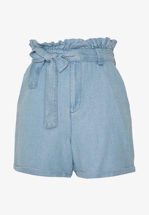 NMENDI BELTED - Shorts - light blue