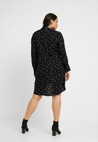 CAPSULE by Simply Be - SPORTY TRIM SWING DRESS - Shirt dress - black - 3