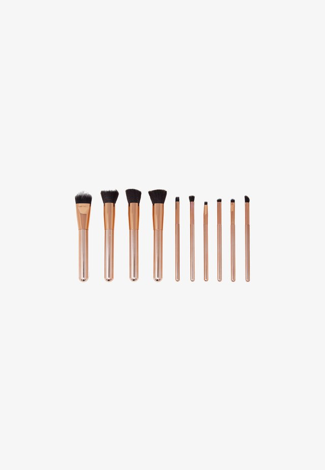 10 PIECE LUXURIOUS MAKE-UP BRUSH SET - Make-upkwastje - rose gold