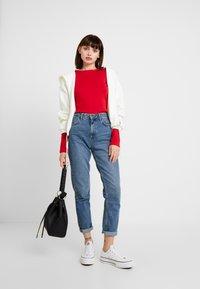 Petit Bateau - Long sleeved top - dark red - 1